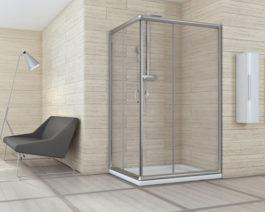 Hydrastar Nolan – Lato cm 100 TRASPARENTE per box doccia quadrato e rettangolare 6 mm