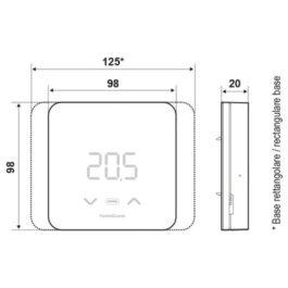 Cronotermostato elettronico led con funzioni smart Fantini Cosmi C800 wifi PRO