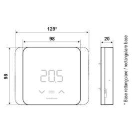 Cronotermostato elettronico led con funzioni smart Fantini Cosmi C800 wifi R