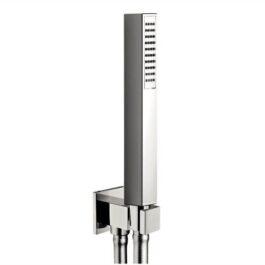 Kit duplex fisso quadro con presa acqua, doccetta e flessibile silver cm. 150