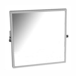 Specchio basculante con cornice bianca
