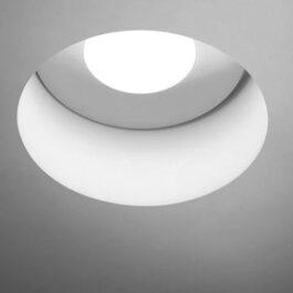 Doride T353 tondo Lampada a incasso per cartongesso ad una luce per lampadine GU10.