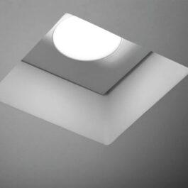 Doride T354 quadro Lampada a incasso per cartongesso ad una luce per lampadine GU10.