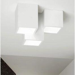 Heraea 3 luci T193 Lampada a soffitto