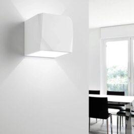 Opus T195 Lampada da parete gesso biemissione