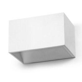 RETT Lampada da parete alluminio bianca biemissione