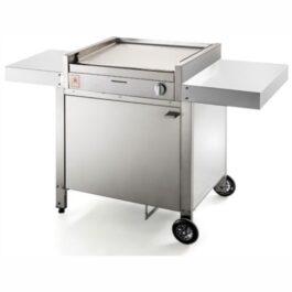 Barbecue a gas in acciaio con carrello