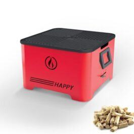 HAPPY Barbecue portatile con bruciatore a pellet